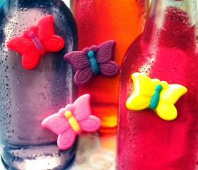 Soap - Butterflies - 4 Soaps - Party Favors, Birthdays - You Choose Colors and Scent
