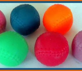 Soap - Set of 4 - Baseball Soaps - Made with Goat's Milk - You Choose Scent and Color - Party Favors