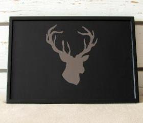 Lap Desk - Hand painted Deer head - Antler - on Desk - Custom Order