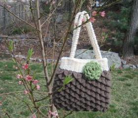Crochet Mermaid Tears Purse - medium -(P27) - ON SALE was $38