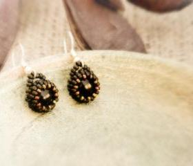 Free Shipping Night Dreams. Black bead wrapped earrings. Office Fashion jewelry. tbteam spteam stylistteam