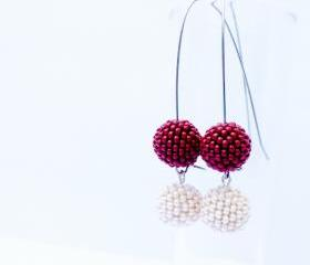 White dark chocolate truffle earrings, Food Jewelry. taste test. tbteam April trends