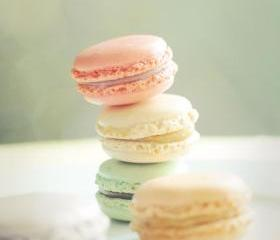 Sweet French Macarons. Home Decor. Fine Art Photography. Size 5x7'