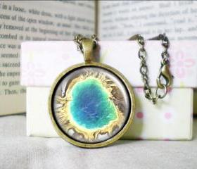 Custom Map Necklace, Grand Prismatic, Photo/ Image/ Picture, Map Jewelry