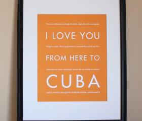 Cuba art print, 8x10