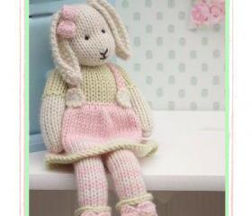 LILY.... A Spring Baby Bunny / Email/ PDF Toy Knitting Pattern/ New