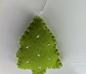 Christmas Tree Tree Decoration Twinkly Lights Green Felt