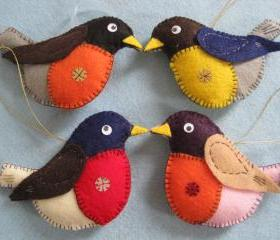 Felted Birds - Robin (FR1-4) $14/each