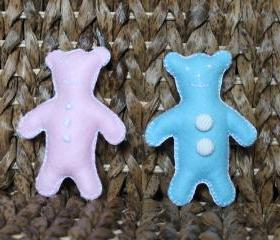 Newborn Teddy Bear Toy Baby Blue Baby Pink Felt