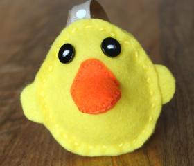 Duck Rubber Ducky Plush Toy Pincushion Feltie Felt
