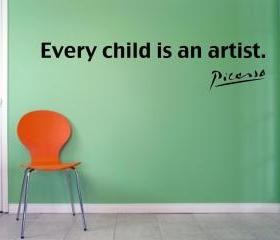 Picasso - Every Child is an artist Vinyl Wall Decal