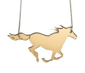 Running Horse Necklace,Plexiglass Jewelry,Lasercut Acrylic,Gifts Under 25