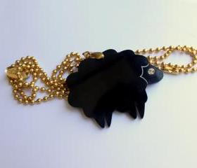 Black Sheep Necklace,Plexiglass Jewelry,Lasercut Acrylic,Gifts Under 25