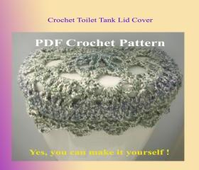 Crochet Pattern - Toilet Tank Lid Cover (2VC2012)
