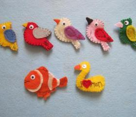 Felt Brooches- $10/each