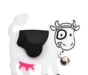 Happy Cow Brooch,Plexiglass Jewelry,Lasercut Acryllic,Gifts Under 25