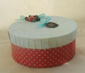 Decorative Keepsake Box Jewelry Box recycled Mothers Day mom, earth day