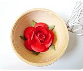 2 Rose Big paper flower red / pack