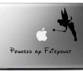 Vinyl Laptop decal - Powered by Fairy Dust
