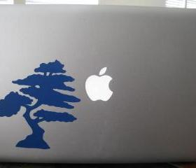 Vinyl Decal. Laptop or wall. Japaneses Bonsai Tree