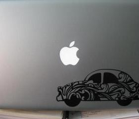 VW Beetle Vinyl Laptop Decal