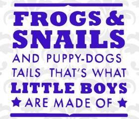 What are little boy's made of - vinyl decal for bedroom or nursery - UK Seller