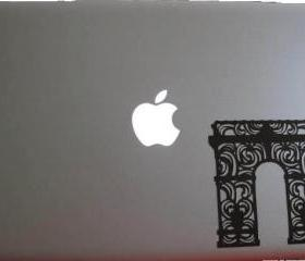 Je T'aime Paris - Arc du Triomphe laptop decal