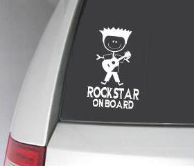 Rockstar on Board car decal - UK seller