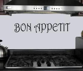 Bon Appetit vinyl kitchen decal - UK seller