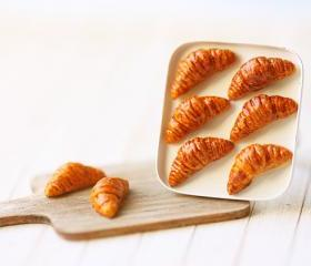 Miniature Food Jewelry - Butter Croissants on Tray Ring
