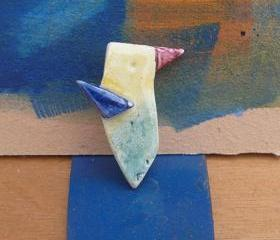 Ceramic Brooch / Colibri (Hummingbird)