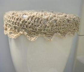 Crochet Tank Lid Cover, Cozy for Toilet Tank Lid - Pearls (TTL2)