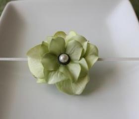 Spring Green Flower Headband