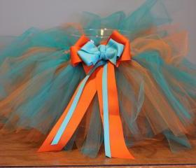 Orange & Teal Tutu (6-12 Months Size)