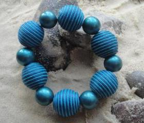 Blue Chunky Bracelet
