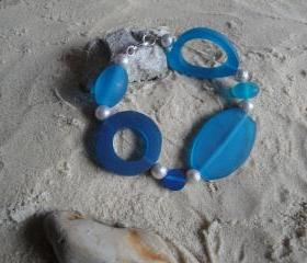 Electric Blue-Silver Bracelet
