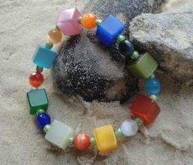 Multi Cube Stretch Bracelet