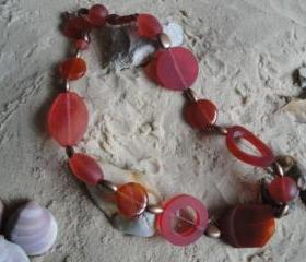 Autumn Red Chunky Necklace