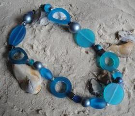 Electric Blue-Turquoise Chunky Necklace
