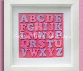 Pink and Purple Alphabet Wall Art