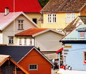 Norwegian Fjords Fishing Village - Fine Art Photography 8x10