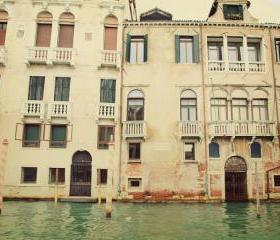 Floating Blocks - Venice Waterways - Italy - Fine Art Travel Photography 8x10'