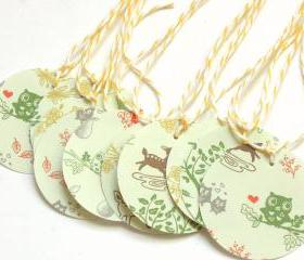 Woodland Love Tags - Set of 10