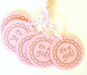 It's A Girl Tags - Set of 5
