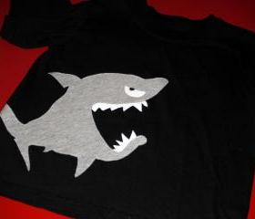 Shark Appliqued T-shirt - children's clothing