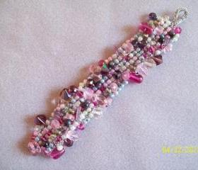 Beaded Knitted Bracelet