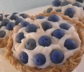 Handmade Blueberry Cream Pie, Soy Wax Candle