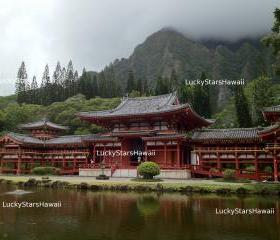 Byodo-In Temple in Valley of the Temples in Kaneohe, Hawaii