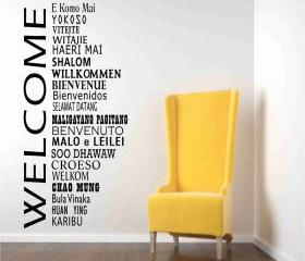 Welcome Decals in International Languages