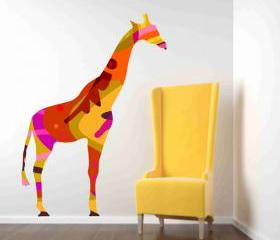 Colorful Giraffe Wall Decal